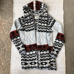 Abercrombie & Fitch hooded Aztec knitted cardigan
